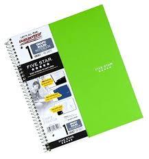 Five Star Graph Paper Notebook Five Star Spiral Notebook Graph Ruled