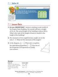 C2 2 a2 5 b2 3. 7 1 Lesson Quiz 7 1 Solve It