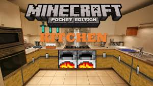 Minecraft Modern Kitchen Minecraft Pocket Edition Build Tutorials Episode 2 Kitchen Youtube