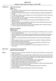 Project Engineer Resume Samples Velvet Jobs