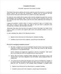 plaint Procedure Template