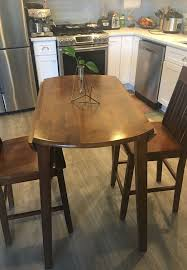 39 inch round table with 2 chairs 36 inch high great for small space furniture in lake oswego or offerup