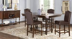 correct height of a dining room table. stanton cherry 5 pc counter height dining room - sets dark wood correct of a table d