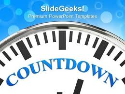 Business Clock With Word Countdown Time Planning Ppt