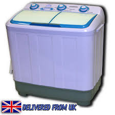 Mini Washing Machines Twin Tub Washing Machine 48kg Compact Portable Caravan Spin Dryer