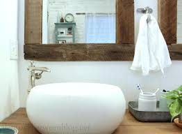 white frame bathroom mirrors idea reclaimed wood framed mirrors for wooden frame bathroom mirror prepare architecture