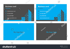 Personal Info Cards Blue Grey Business Cards Name Card Stock Vector Royalty Free