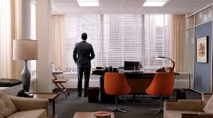 mad men office furniture. don draper in his office nice orange clubchairs the front of madmen mad men furniture