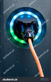 Car Battery Charger Indicator Lights Electric Car Battery Charger Socket Load Stock Photo Edit