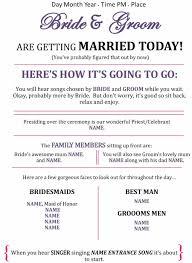 Wedding Ceremony Templates Free 37 Printable Wedding Program Examples Templates