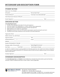 14 Job Description Forms Free Pdf Format Download With Purpose Of