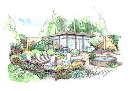Small Picture Landscape Design Perspective Rendering Helen Thomas