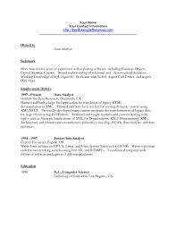 Resume Gis Analyst Resume