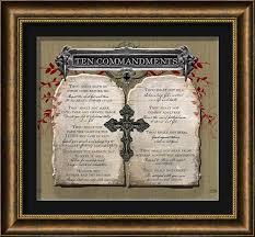 ten commandments wall decor