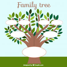 Family Tree Template Free Download Family Tree Template With Leaves Vector Free Download