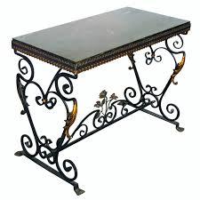salterini wrought iron furniture. Furniture:Vintage Salterini Wrought Iron Console Table For At 1stdibs Amusing With Stone Top Granite Furniture