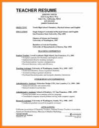 Resume For Post Of Teacher Doc Resume Format For Teacher Post