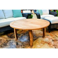 Jakarta 40 in round teak outdoor coffee table