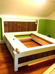 how to build a king platform bed