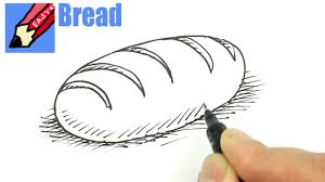 loaf of bread drawing. Plain Drawing How To Draw A Loaf Of Bread Real Easy With Loaf Of Bread Drawing YouTube