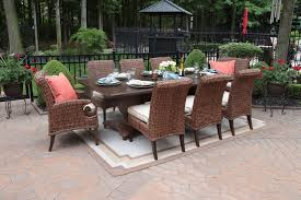 outdoor luxury furniture. Aerin Collection All Weather Wicker Luxury Patio Furniture 8-Person Dining Set Outdoor