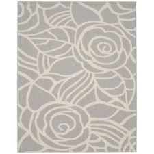 garland rug rhapsody silver ivory 8 ft x 10 ft area rug