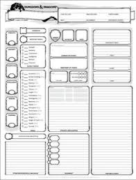 shadowrun 5 character sheet dungeons and dragons character sheet 5th ed get it here wizards