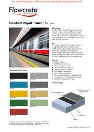 Flowcrete Color Chart Flowfast Rapid Transit Sr For More Information On Flowcrete