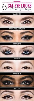 eye shape chart how to get the perfect cat eye for every eye shape