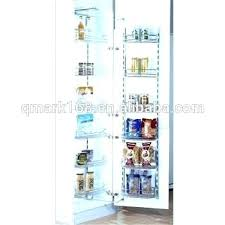 metal kitchen cabinet wire pantry basket tall unit pull out magic baskets for sliding large round