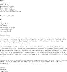Nursing School Application Resume Nursing School Cover Letter