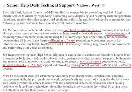 Help Desk Technician Resume Help Desk Resume Sample Complete Guide 20 Examples