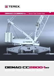 Demag 600 Ton Crane Load Chart Demag Crawler Crane Demag Cc2800 1 Nt Cranepedia