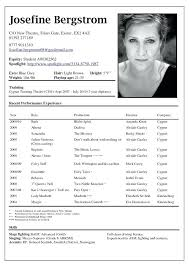 Free Actor Resume Template Actor Resume Example Best Resume