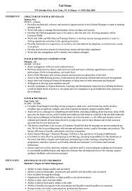 Note Taker Resume Example Food Beverage Resume Samples Velvet Jobs 2