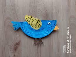 Ptak - praca plastyczna z wykorzystaniem talerzyka papierowegoedufunkids.com