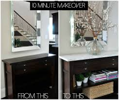 contact paper on furniture. How To Add Marble Contact Paper Furniture For A Drastic Makeover. What Beautiful Foyer Piece! On T