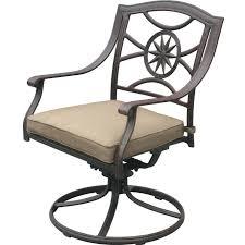 darlee ten star cast aluminum patio swivel rocker dining chair