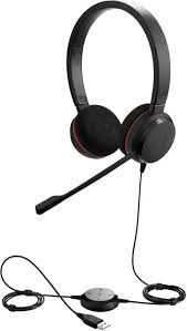 <b>Jabra Evolve 20 UC</b> stereo USB Corded Wired Headset with Mic ...