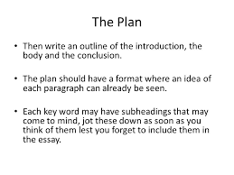 writing postgraduate essays ppt  the plan then write an outline of the introduction the body and the conclusion