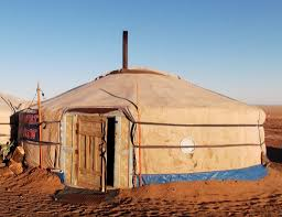 A yurt in Mongolia