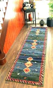blue rug runner navy olive green red hall and white