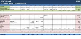 Expense Excel Template Rent Income Excel Template Online Tax File Rent Expense Tracker Tax Filling Report Net Income For Tax Return