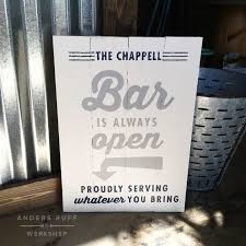 the bar is always open sign 14 19