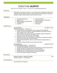 Mechanic Resume Examples Best Aircraft Mechanic Resume Example