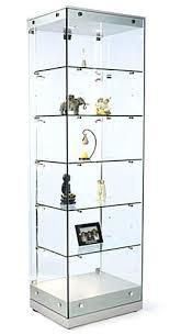 glass display cabinet ikea with lights small uk box lock glass display