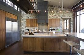industrial kitchen furniture. Stone Covered Walls Is Another Way To Go For An Industrial Kitchen Furniture