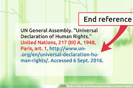 ways to cite the universal declaration of human rights wikihow image titled cite the universal declaration of human rights step 7