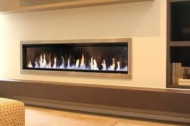narrow modern gas fireplace