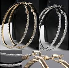 2019 Big Circle Crystal Hoop <b>Earrings For Women Bohemian</b> Bridal ...
